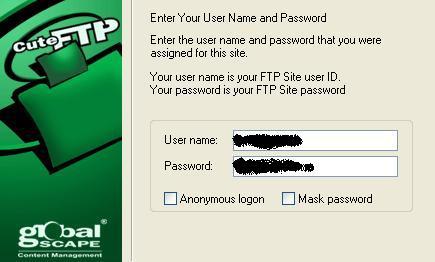 gebruikersnaam/wachtwoord